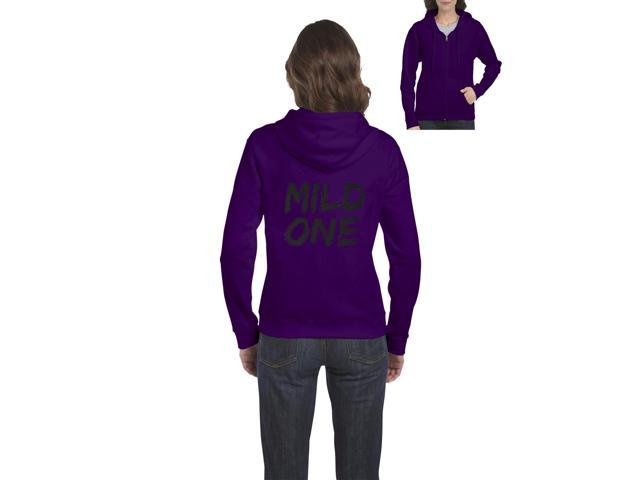 Artix Mild One Full-Zip Women's Hoodie Clothes XX-Large Purple