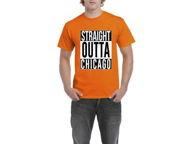 Artix Straight Outta Chicago Men's T-Shirt Tee XXX-Large Orange