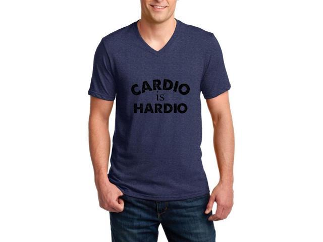 Artix Cardio is Hardio Gym Workout Fitness Exercise Sport Transformation Apparel Gift 4 Best Friend Christmas Halloween Healty Ringspun Men V-Neck T-Shirt