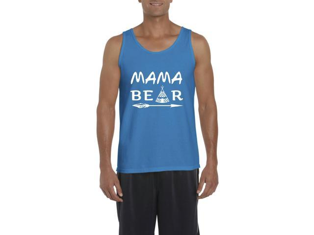 Artix Mama Bear Native Indian Pattern Men's Tank Top Medium Sapphire Blue