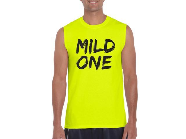 Artix Mild One Ultra Cotton Sleeveless Men's T-Shirt Medium Safety Yellow