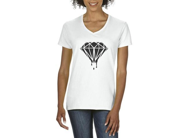 Artix Black Diamond  Women's V-Neck T-Shirt Tee Clothes