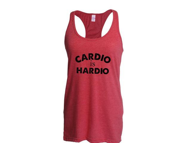 Artix Cardio is Hardio Gym Workout Fitness Exercise Sport Transformation Apparel Gift 4 Best Friend Christmas Halloween Healty Women's Next Level Ladies' Ideal Racerback Tank Clothes