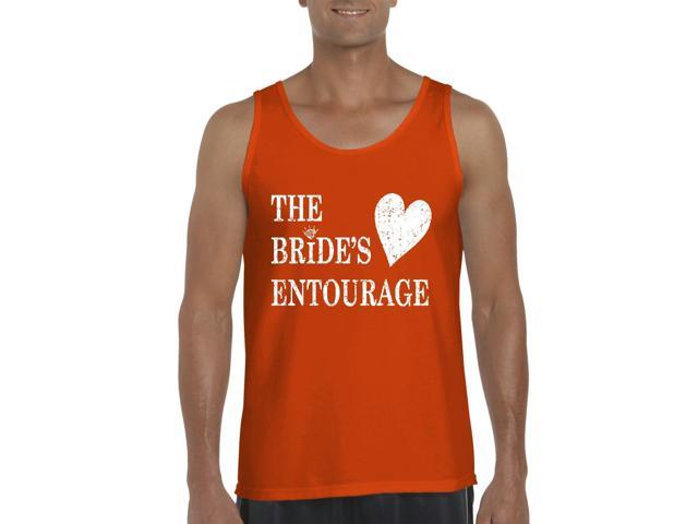 Artix Bride's Entourage Men's Tank Top Large Orange