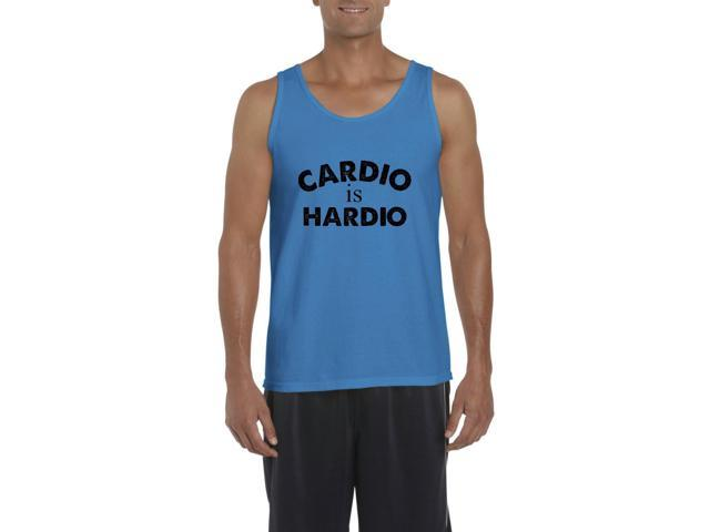 Artix Cardio is Hardio Gym Workout Fitness Exercise Sport Transformation Apparel Gift 4 Best Friend Christmas Halloween Healty Men's Tank Top