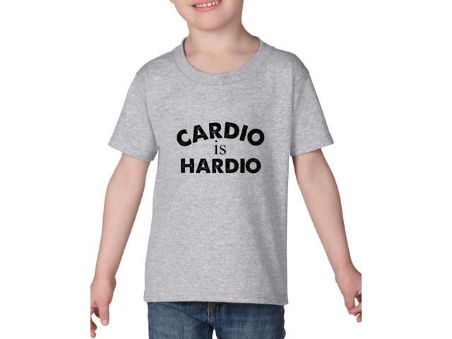 Artix Cardio is Hardio Gym Workout Fitness Exercise Sport Transformation Apparel Gift 4 Best Friend Christmas Halloween Healty Heavy Cotton Toddler Kids T-Shirt Tee Clothing