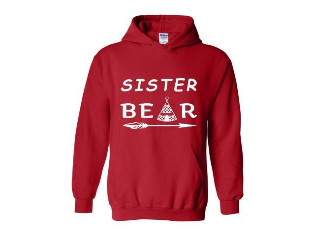 Artix Sister Bear Native Indian Support Family Matching Couples w Mama Papa Sister Bear Gift 4 Best Friend Christmas Fashion Unisex Hoodie Sweatshirt
