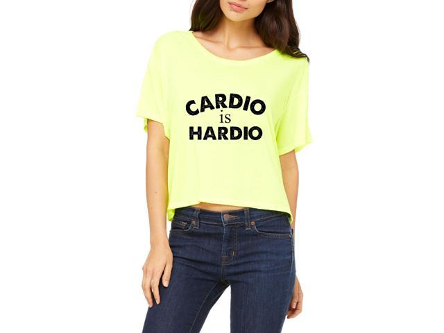 Artix Cardio is Hardio Gym Workout Fitness Exercise Sport Transformation Apparel Gift 4 Best Friend Christmas Halloween Healty Women's Flowy Boxy T-Shirt Clothes