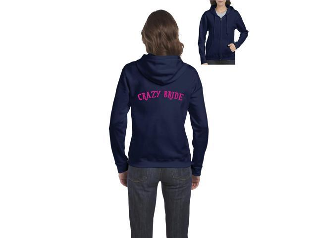 Artix Crazy Bride Humor Sarcastic Hangover Bride Gift 4 Wedding Bridal Shower Bachelorette Hallowen Christmas Fashion People Full-Zip Women's Hoodie Clothes