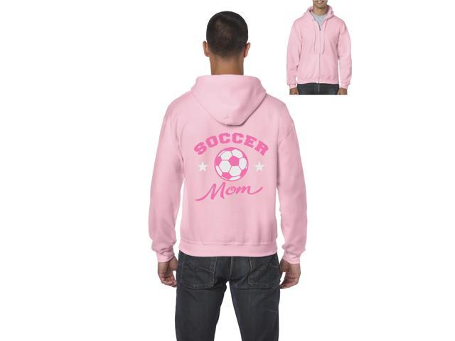 Artix Plush Soccer Mom Full-Zip Men's Hoodie X-Large Azalea Pink