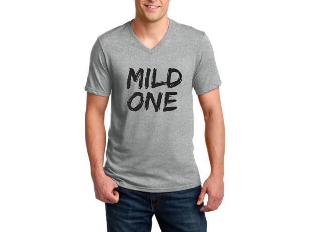 Artix Mild One Ringspun Men V-Neck T-Shirt X-Large Charcoal