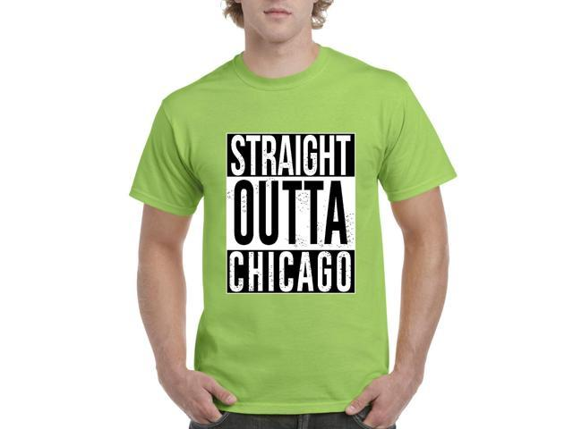 Artix Straight Outta Chicago Men's T-Shirt Tee X-Large Lime Green