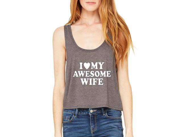 Artix I love My Awesome Wife Women's Boxy Tank Top  Clothes Medium Dark Grey Heather