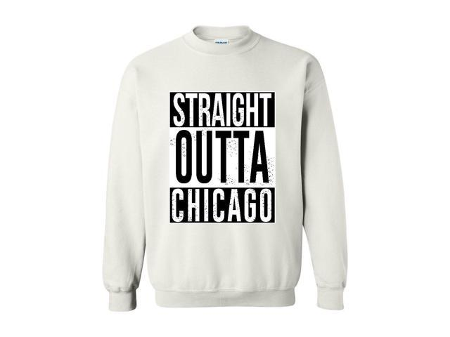 Artix Straight Outta Chicago Unisex Crewneck Sweatshirt XXX-Large White