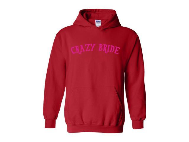 Artix Crazy Bride Humor Sarcastic Hangover Bride Gift 4 Wedding Bridal Shower Bachelorette Hallowen Christmas Fashion People Unisex Hoodie Sweatshirt