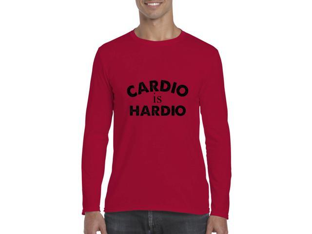 Artix Cardio is Hardio Gym Workout Fitness Exercise Sport Transformation Apparel Gift 4 Best Friend Christmas Halloween Healty Softsyle Long Sleeve Men's T-Shirt Tee