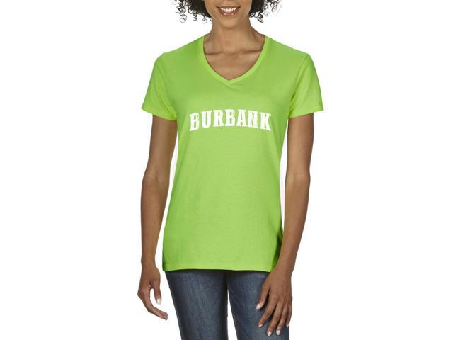 Artix Burbank  Women's V-Neck T-Shirt Tee Clothes