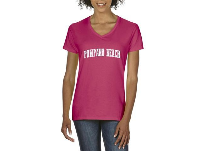 Artix Pompano Beach  Women's V-Neck T-Shirt Tee Clothes