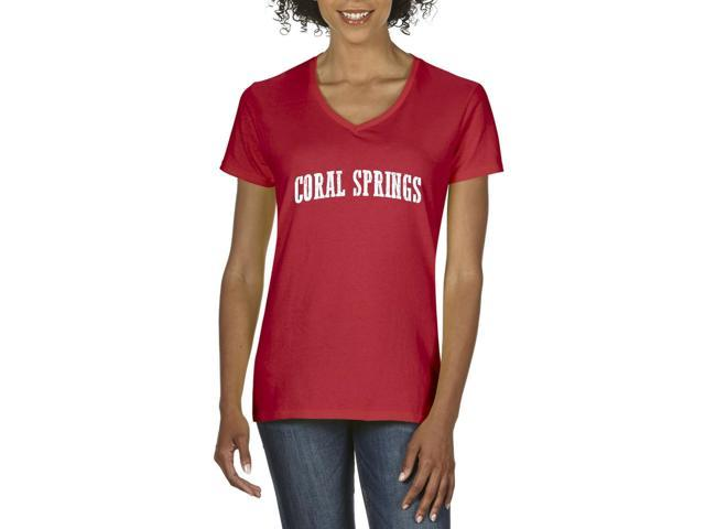 Artix Coral Springs  Women's V-Neck T-Shirt Tee Clothes