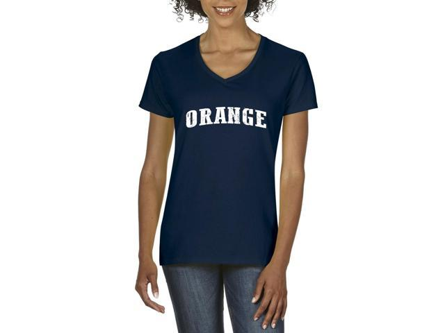 Artix Orange  Women's V-Neck T-Shirt Tee Clothes