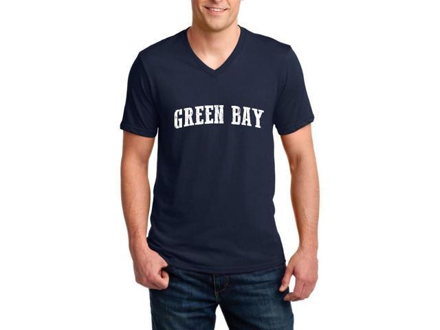 Artix Green Bay  Ringspun Men V-Neck T-Shirt