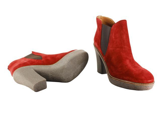 Emporio Armani Red Women's Ankle Boots Size 39 EU (8.5 US)