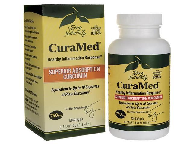 CuraMed 750mg - EuroPharma (Terry Naturally) - 120 - Softgel