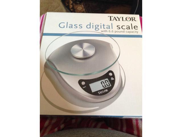 Taylor Digital Food Scale 6.6 Lb. Glass Platform Battery Included