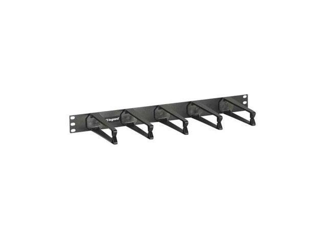 C2G 1U Horizontal Cable Management Panel with 5 High-Capacity D-Rings