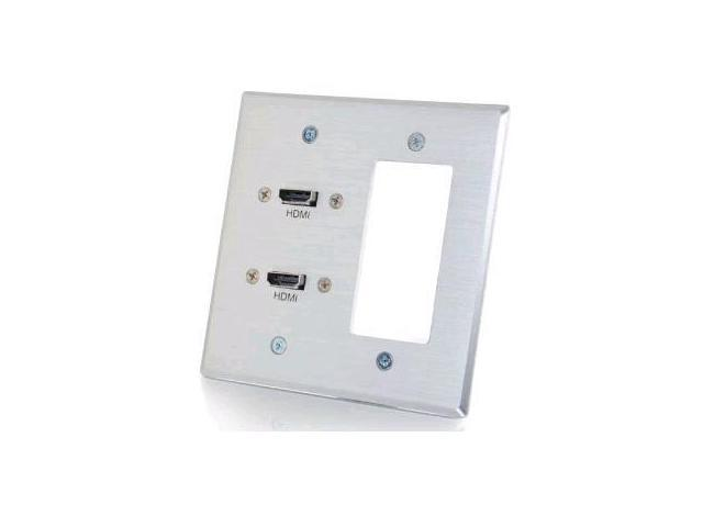 C2G 39709 Complete An In-Wall Hdmi Cabling Installation With This Wall Plate Featuring Fle