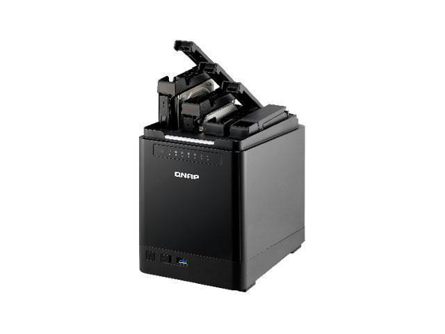 QNAP TS-453mini-8G-US 4-Bay Quiet and Vertical NAS, Intel 2.0GHz Quad Core CPU with Media Transcoding