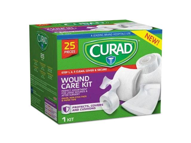 Curad CUR1625 Wound Care Kit: Gauze, Non-Stick Pads And Paper Tape