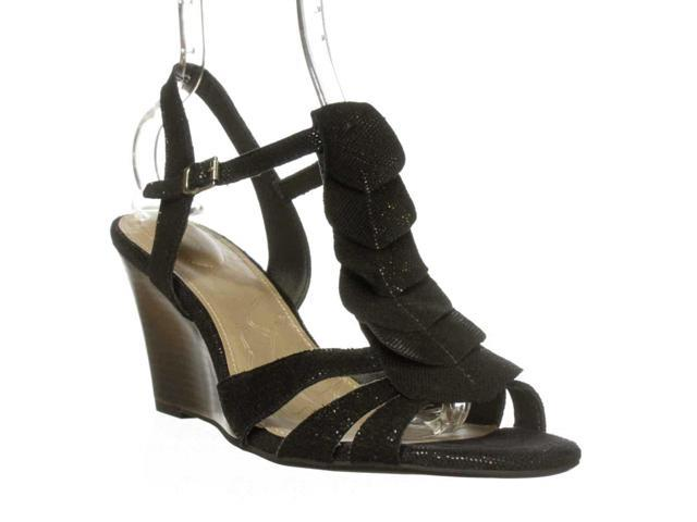 GB Adasah Wedge Sandals Black Black Size 60
