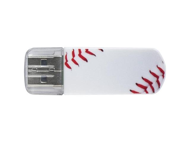Verbatim 16GB Mini USB Flash Drive, Sports Edition - Baseball