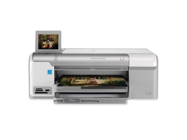 HP Photosmart D7560 Q8441A Up to 33 ppm Black Print Speed 9600 x 2400 dpi Color Print Quality Thermal Inkjet Photo Color Printer