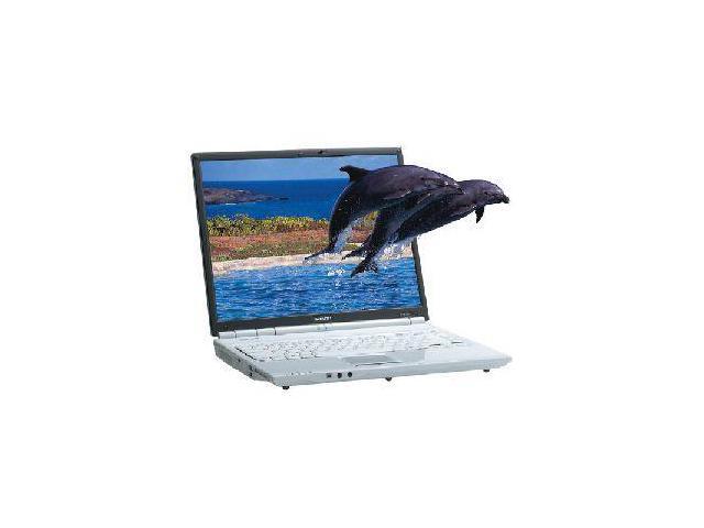 "SHARP Laptop Actius PCAL3DU Intel Pentium M 750 (1.86 GHz) 1 GB Memory 80 GB HDD NVIDIA GeForce Go 6600 15.0"" Windows XP ..."