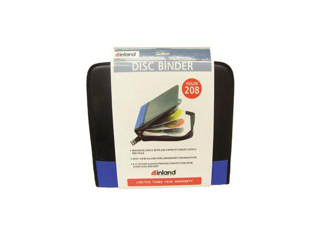 inland 2403 Pro CD/DVD carrying case holds 208