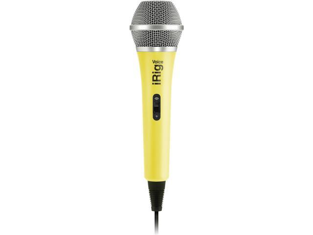 IK Multimedia iRig Voice iOS/Android Handheld Microphone, Yellow
