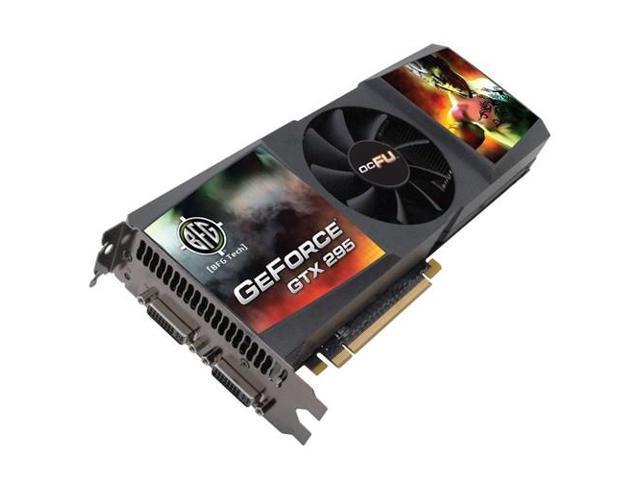 BFG Tech GeForce GTX 295 DirectX 10 BFGEGTX2951792OCBE 1792MB 896 (448 x 2)-Bit GDDR3 PCI Express 2.0 x16 HDCP Ready SLI Support Video Card