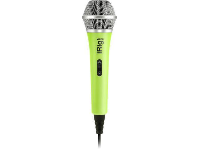 IK Multimedia iRig Voice iOS/Android Handheld Microphone, Green