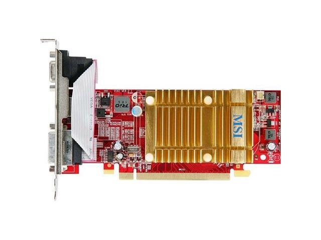 MSI Radeon HD 4350 DirectX 10.1 R4350-MD512H 512MB 64-Bit GDDR2 PCI Express 2.0 x16 HDCP Ready CrossFireX Support Video Card