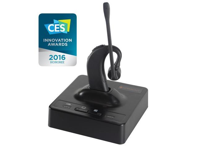 ZuM eco-SET™ -  Eco-DECT USB/DECT 6.0 Low Emission Wireless Headset + Base Station with up to 500 Feet of Range
