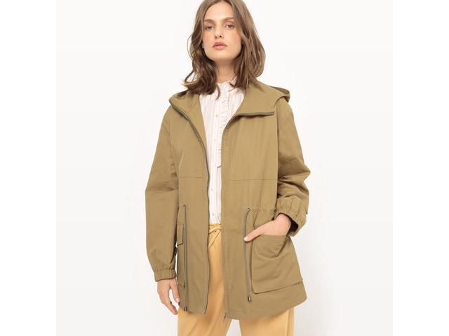 Womens Lightweight Mid-Length Hooded Parka