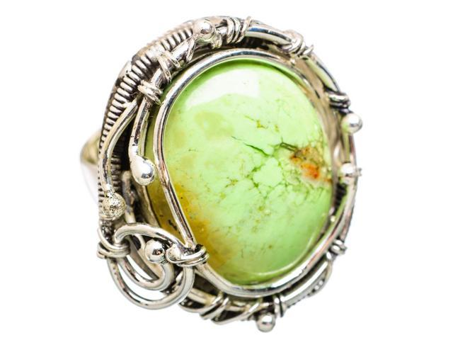 Ana Silver Co Huge Lemon Quartz 925 Sterling Silver Ring Size 7.75 - Handmade Jewelry RING838495