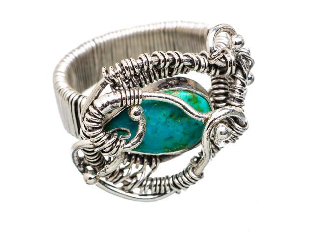 Ana Silver Co Tibetan Turquoise Ring Size 8.5 (925 Sterling Silver) - Handmade Jewelry RING838374