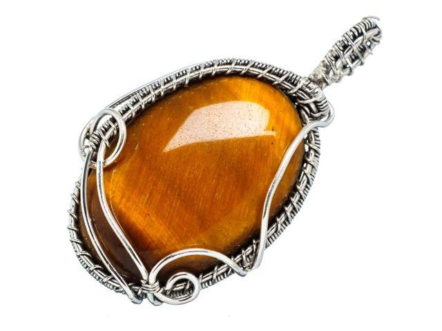 Ana Silver Co Tiger Eye 925 Sterling Silver Pendant 2