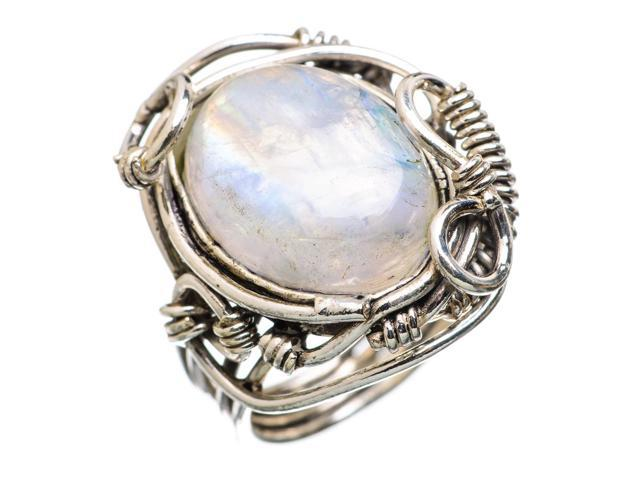 Ana Silver Co Rainbow Moonstone 925 Sterling Silver Ring Size 6.25 - Handmade Jewelry RING838176