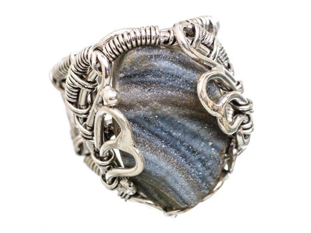 Ana Silver Co Desert Druzy 925 Sterling Silver Ring Size 6.75 - Handmade Jewelry RING838487