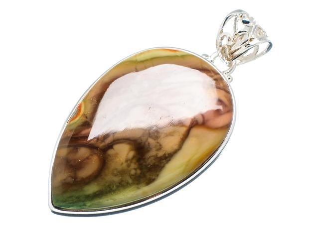 Ana Silver Co Imperial Jasper 925 Sterling Silver Pendant 2 1/2