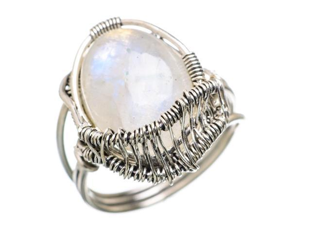 Ana Silver Co Rainbow Moonstone 925 Sterling Silver Ring Size 8.75 - Handmade Jewelry RING833022